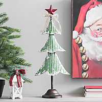 Green Metal Christmas Tree Statue, 22.5 in.