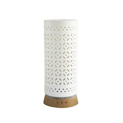 White Cutout Ceramic Essential Oil Diffuser