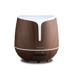 Wood Grain Diffuser with Bluetooth Speaker