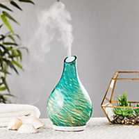 Turquoise Hand-Blown Glass Diffuser, 8 in.
