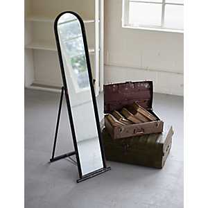Metal Framed Floor Mirror with Stand