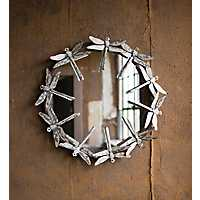 Round Dragonfly Mirror, 27 in.