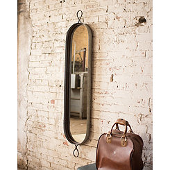 Oval Metal Framed Wall Mirror, 12.5x61