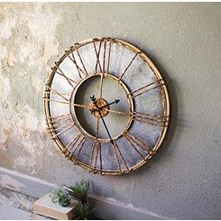 Industrial Metal Round Wall Clock