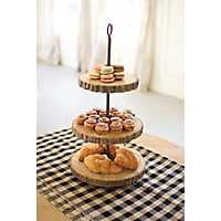 3-Tier Pine and Metal Display Stand
