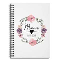 Mama Established 2018 Spiral Notebook