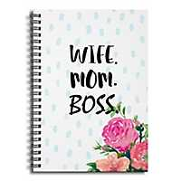 Wife Mom Boss Spiral Notebook