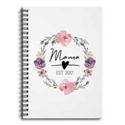 Mama Established 2017 Spiral Notebook