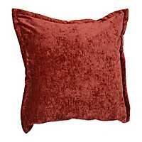 Rust Two-Tone Velvet Flange Pillow