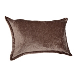 Gray Two-Tone Velvet Flange Pillow