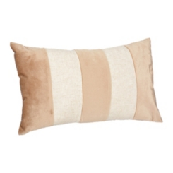 Champagne Color Block Callie Accent Pillow