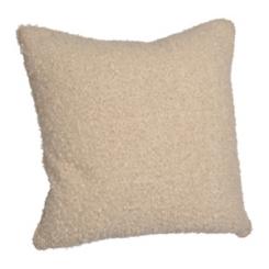 Beige Chunky Wool Yarn Pillow