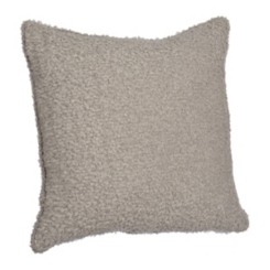 Gray Chunky Wool Yarn Pillow