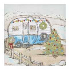 Christmas Camper Canvas Art Print