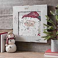 Santa Framed Canvas Art Print