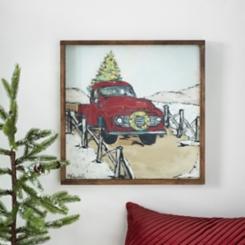 Christmas Truck Framed Art Print