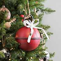 Red Distressed Christmas Bell, 7 in.