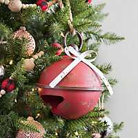 Red Distressed Christmas Bell, 9 in.