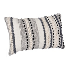 Gray Knots and Braids Wool Accent Pillow