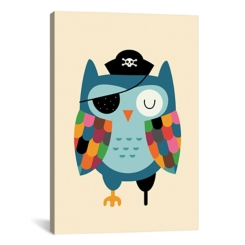 Captain Whooo Owl Canvas Art Print