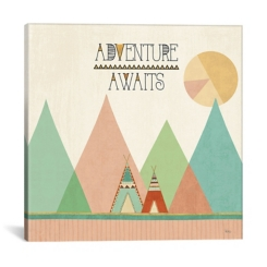 Adventure Awaits Southwest Canvas Art Print