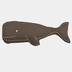 Gray Wally Whale Shaped Pillow