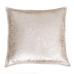 Gold Metallic Crackle Whipstitch Pillow