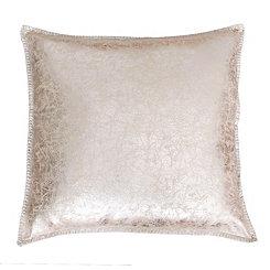Gold Metallic Crackle Whipstitch Pillow