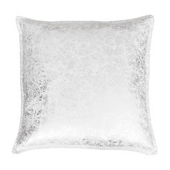 Silver Metallic Crackle Whipstitch Pillow