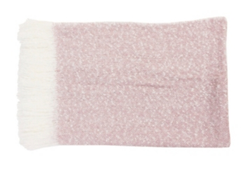 Pink Mohair Fringe Throw