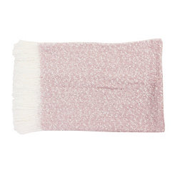 Pink Mohair Fringe Throw