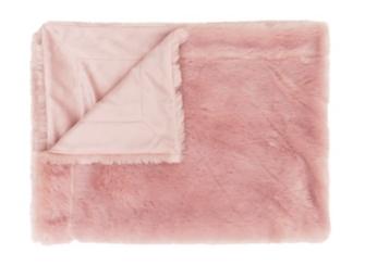 Pink Faux Fur Throw