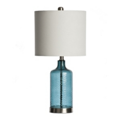 Blue Glass Fog Table Lamp