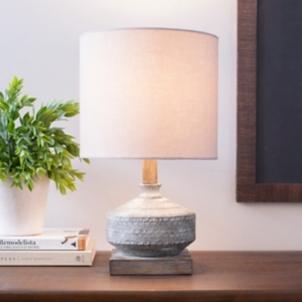 Gilia Gray Wash Wood Table Lamp Kirklands