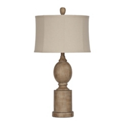 Distressed Wood Grove Table Lamp