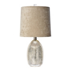 Sylvia Mercury Glass Table Lamp with Velvet Shade