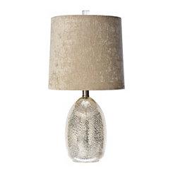Table lamps glass table lamps kirklands sylvia mercury glass table lamp with velvet shade aloadofball Choice Image