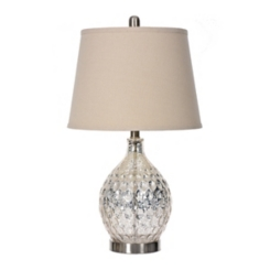 Mira Hammered Mercury Glass Table Lamp