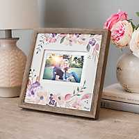 Matted Floral Mix Photo Frame, 5x7