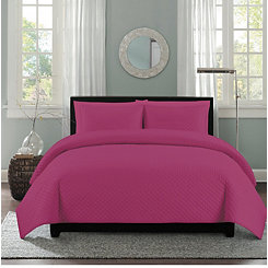 Rose Diamond Stitch 3-pc. King Quilt Set