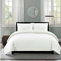 White Clover Stitch 2-pc. Twin Quilt Set