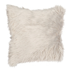 Gray Mongolian Fur Pillow