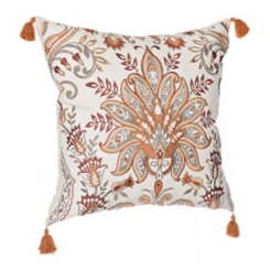 Fall Multicolor Embroidered Pillow