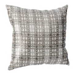 Metallic Silver Plaid Maxi Pillow