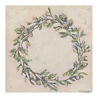 Wreath with Acorns Canvas Art Print
