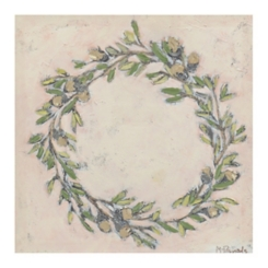 Wreath with Acorns Canvas Art Print