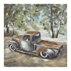 Vintage Truck with Dog Canvas Art Print