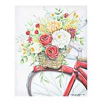 Red Bicycle Canvas Art Print