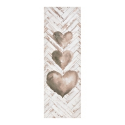 Triple Heart Canvas Art Print