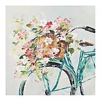Floral Bike Canvas Art Print